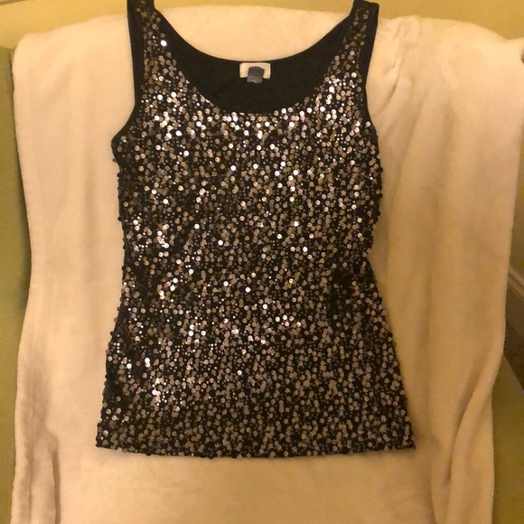 Old Navy Tops - Festive sequined tank size large